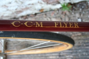 1930 CCM Flyer - down tube