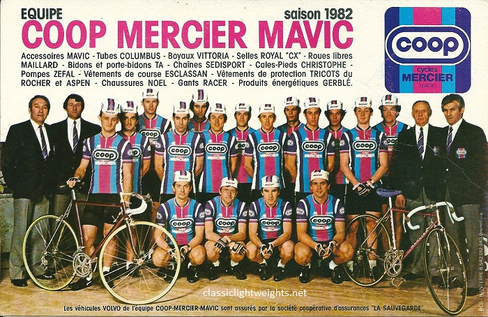1982 COOP MERCIER MAVIC Team