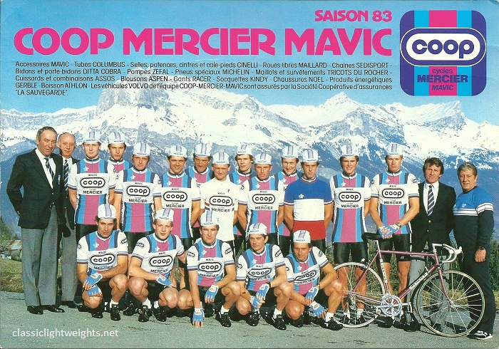 1983 COOP MERCIER MAVIC Team