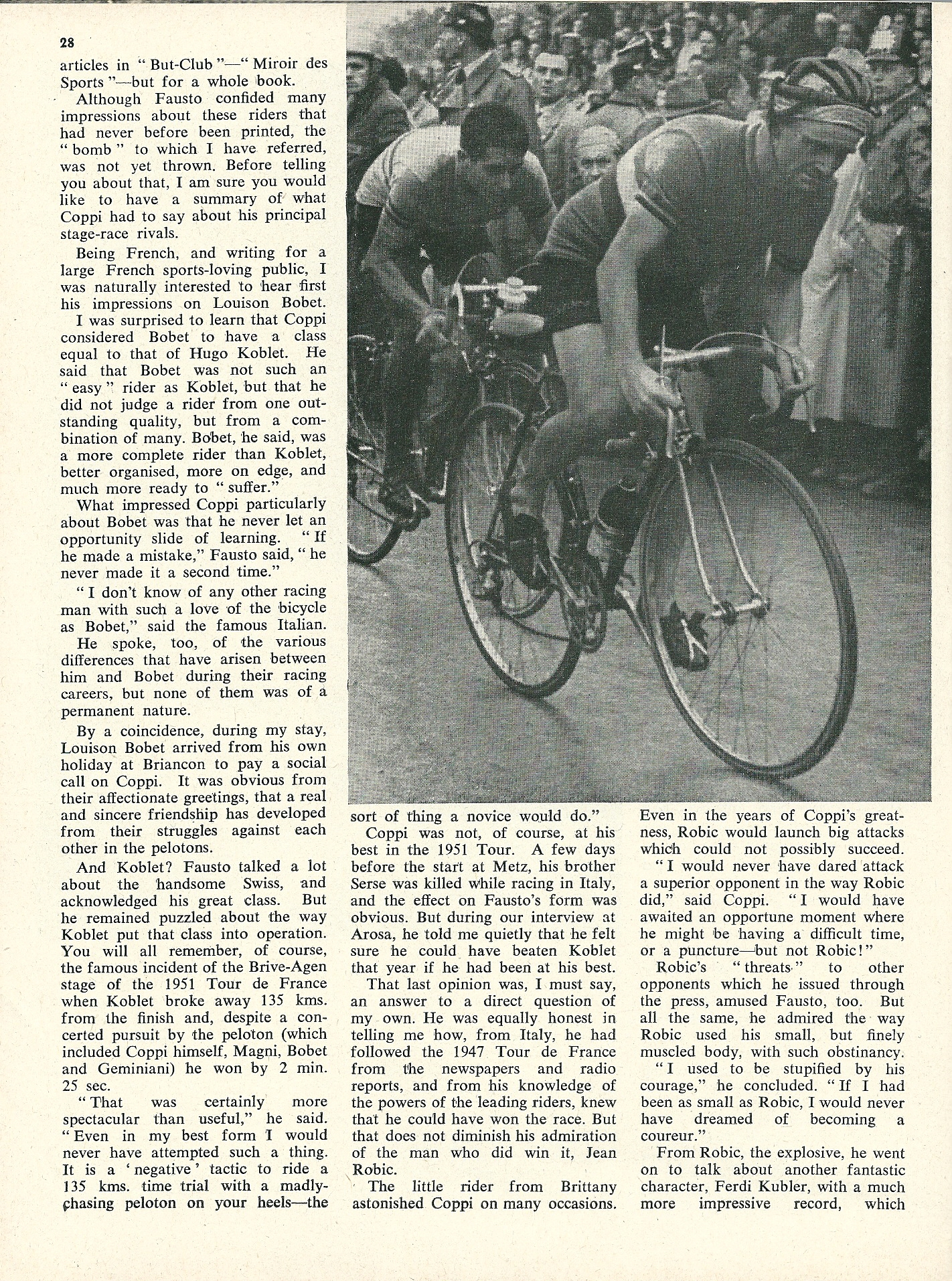 Fausto Coppi Interview - CSC April 1959